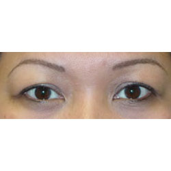 Permanent eyeliner, after picture.